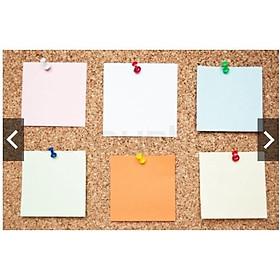 Set 55 Đinh ghim cài tài liệu, Sticker, Cài giấy bảng ghim Gỗ bần Phụ kiện trang trí
