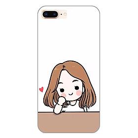 Hình đại diện sản phẩm Ốp lưng dẻo cho Apple iPhone 8 Plus_Couple Girl 03