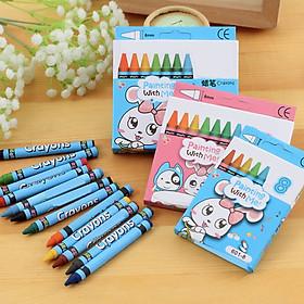 [COMBO 3 Bộ] Bút màu sáp thỏ trắng siêu dễ thương - Bộ sáp 8 màu đẹp độc đáo cho bé