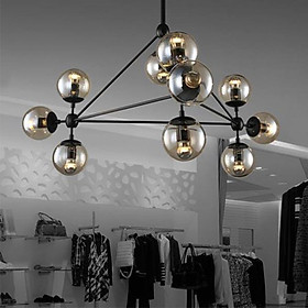 Đèn chùm - đèn trần - đèn treo trần - đèn thả bàn ăn, phòng khách cao cấp UTI 10 bóng