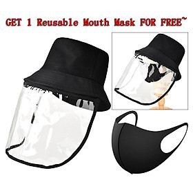 1x Anti-spitting Protective Hat Cover Eyes Outdoor -proof Bucket Hat