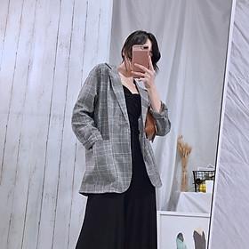 Áo Khoác Kaki Nữ Áo khoác vest kẻ caro thời trang sành điệu cho nữ