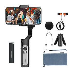 Gimbal Tay cầm chống rung tích hợp micro không dây cho smartphone cao cấp Hohem ISteady X Vlogger Kit - Hàng nhập khẩu