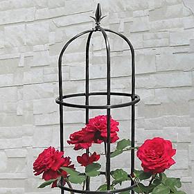 KHUNG HOA THÁP CHUÔNG màu đen - Dùng làm giá đỡ, khung leo cho hoa hồng leo, cây hoa leo - Tôn lên vẻ sang trọng cổ điển cho khu vườn
