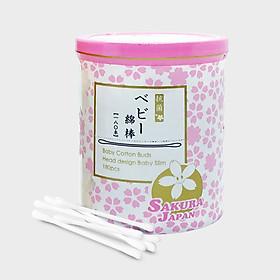 Tăm bông kháng khuẩn Sakura Nhật Bản - Em bé (Baby) - 180 que/hộp