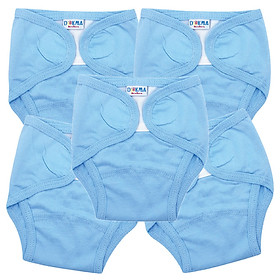 Combo 5 tã vải 100% cotton DOKMA DS002 cho bé từ 1-3 tháng