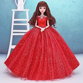 Búp Bê Cô Dâu Xinh Đẹp Đỏ 29cm - Tặng 3 Váy Ngắn
