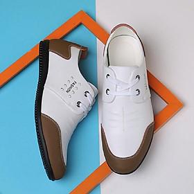 Men's breathable wear-resistant single shoes fashion all-match casual microfiber men's shoes