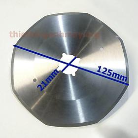 Dao 125 có 8 cạnh bát giác cho máy cắt vải đường kính ngoài 125mm, trong 21mm