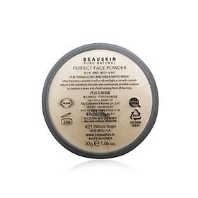 Phấn Bột Kiềm Dầu Và Cân bằng ẩm Beauskin Perfect Face Powder (30g) - #21 - Hàn Quốc Chính Hãng-1