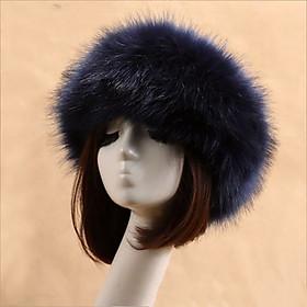 Mũ Len Lông Giả Trượt Tuyết Nhiều Màu