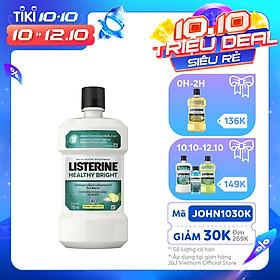 Nước Súc Miệng Làm Trắng Răng Listerine Healthy Bright (750ml) - 8850007813385