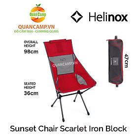 Ghế dã ngoại xếp gọn Helinox Sunset Chair Scarlet Iron Block