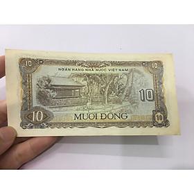 10 đồng 1980 nhà sàn Bác Hồ, tiền xưa Việt Nam, mới đẹp như hình, tặng phơi nylon bảo vệ