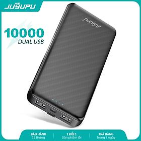Pin sạc dự phòng JUYUPU X180 10000mAh đèn led báo hiệu mini mỏng gọn dành cho iPhone Samsung OPPO VIVO HUAWEI XIAOMI - HÀNG CHÍNH HÃNG