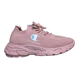 Hình đại diện sản phẩm Giày Sneaker Nữ Độn Đế Cổ Chun Biểu Tượng Cờ HAPU