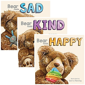 3 Pack of 3D Board Books - Bear Feels
