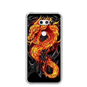 Ốp lưng dẻo cho điện thoại LG V30 - 0218 FIREDRAGON - Hàng Chính Hãng