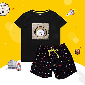 BT21 x HUNT Spangle Pajama Set Chimmy HILO91101T