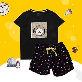 BT21 x HUNT Spangle Pajama Set Chimmy HILO91101T