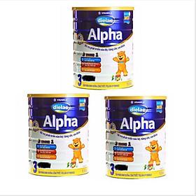 COMBO 3  HỘP SỮA BỘT DIELAC ALPHA 3 1,5KG