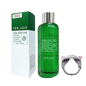 Nước Hoa Hồng Tràm Trà Giảm Mụn Derladie Herbal Extract Toner 140ml + Tặng Kèm 1 Băng Đô Tai Mèo (Màu Ngẫu Nhiên)