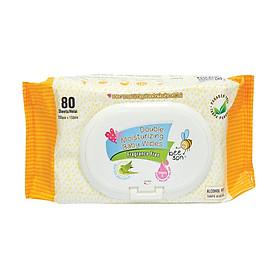 Khăn ướt trẻ em BEE SON dưỡng ẩm không mùi 80 tờ