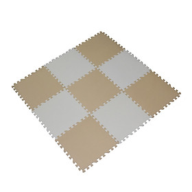 Set 09 Tấm Thảm Xốp Ghép Màu Pastel, Chất Liệu EVA Dùng Lót Sàn Cho Bé, Lót Sàn Phòng Bếp, Phòng Khách - Kích Thước 45x45x1 cm