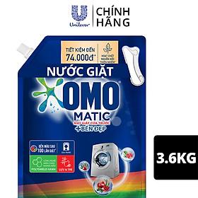 Nước giặt OMO Matic chuyên dụng Cửa Trước Bền Màu với tinh chất Lựu Tre 3.6kg