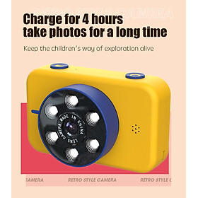 Mini Digital Children's Camera 4K HD Front Rear Dual Camera 50.0MP Kids Funny Selfie Camera Boys Girls Christmas Birthday Gifts