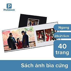 """[E-voucher] Album in ảnh theo yêu cầu bìa cứng 40 trang 11"""" x 8.5"""" khổ ngang (28x 21.5cm) - Thiết kế trên web Photobook"""