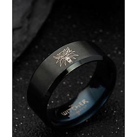 Nhẫn titanium không đen khắc hình Phim Thợ săn quái vật Witcher BHN100