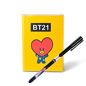 Sổ tay tuyển tệp BT21 BTS tặng bút in hình BTS