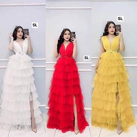 Đầm maxi dự tiệc kèm nịt eo sang trọng TRIPBLE T DRESS -size M/L(kèm ảnh/video thật)MS243V