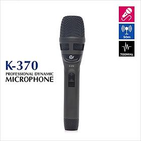 Bộ 1 Micro Karaoke Có Dây Cực Hay, Hút Âm Tốt - Vỏ Hợp Kim Sơn Tĩnh Điện Chống Rơi Vỡ, Model K370 - Chính Hãng