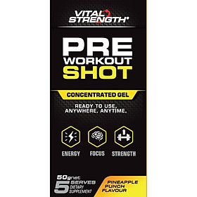 VitalStrength Pre Workout Shot Pineapple Punch 5 Pack