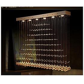 Đèn led 3 tông màu pha lê thả trần nhà trang trí đẹp mắt (80x20)cm D9-L15