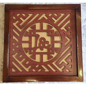 Tấm chống ám khói chữ Lộc AN1334 - 41x41cm