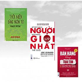Combo 3 cuốn sách nghệ thuật bán hàng: Bán Hàng Bằng Trái Tim – 10 Nguyên Tắc Vàng Mọi Người Bán Hàng Đều Cần Biết + Để trở thành người bán hàng giỏi nhất thế giới + Thôi miên bằng ngôn từ