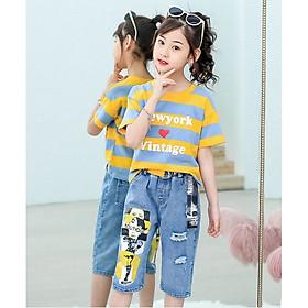 bộ quần áo bé gái hàng quảng châu từ 3 đến 14 tuổi - AA20