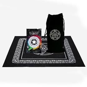 Combo Bộ Bài Bói The Wild Unknown Tarot Cao Cấp và Túi Nhung Đựng Tarot và Khăn Trải Bàn Tarot