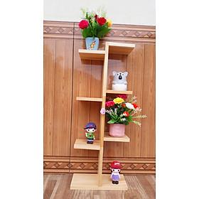 Kệ gỗ  thông để chậu hoa, cây cảnh sang trọng kích thước 60x25x12