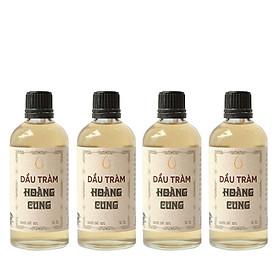 Bộ 4 chai Dầu tràm cho bé - dầu tràm Hoàng Cung 50ml (chai thủy tinh)
