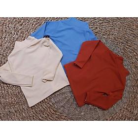 Combo 3 áo thun cotton len tăm giữ nhiệt cho bé gái
