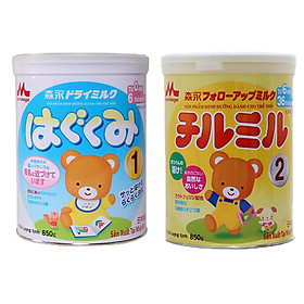2 Hộp Sữa Bột Morinaga Hagukumi và Sữa Bột Morinaga Chilmil  Dành cho trẻ  (850g)