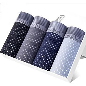 Hộp 4 quần lót nam Boxer Nanjiren( quần sịp đùi ) hàng nhập câp cấp QL3