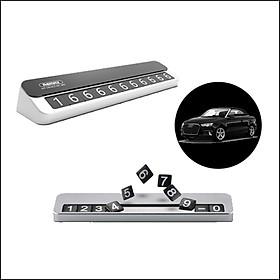 Bảng ghi số điện thoại cho xe hơi bằng kim loại Remax RT-SP12 - Hàng nhập khẩu