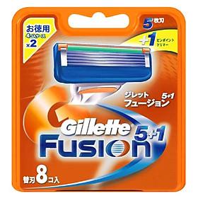 Hộp 8 lưỡi dao cạo Gillette Fusion Proglide Flexball Power  (nhật bản)