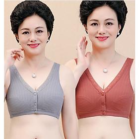 Áo Lót Cho Phụ Nữ Trung Niên Azuno Az400 Cao Cấp Chất Liệu Cotton Không Gọng Nâng Ngực