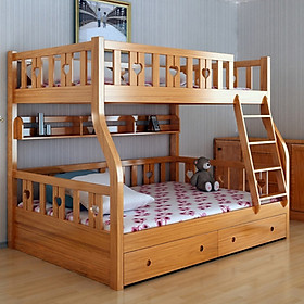 Giường Tầng Trẻ Em cao cấp A104, Trên 1m, Dưới 1m2